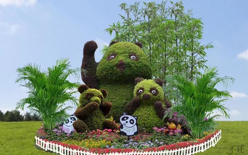 国庆立体花坛造型