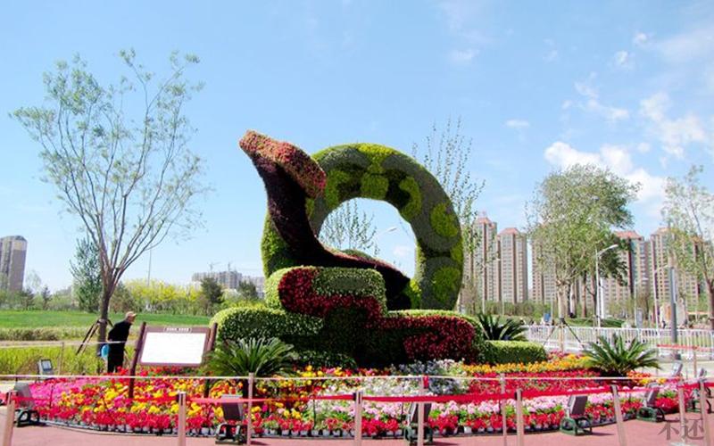 公园广场立体花坛
