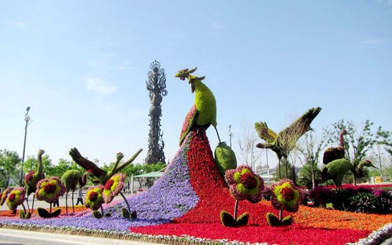 天津广场立体花坛
