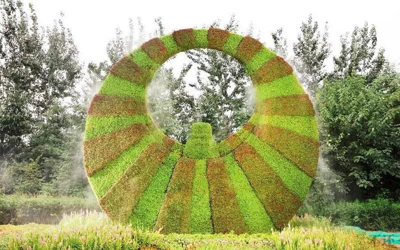 庆典五色草造型
