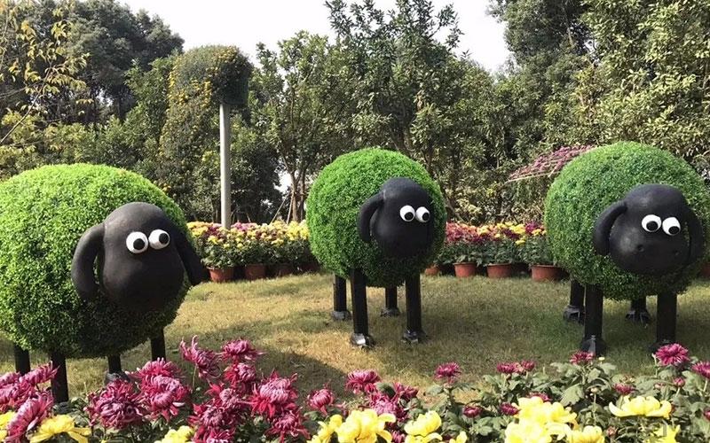 渭南园林五色草造型