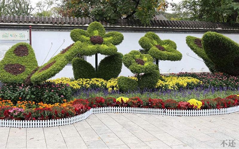 宝鸡公园五色草造型