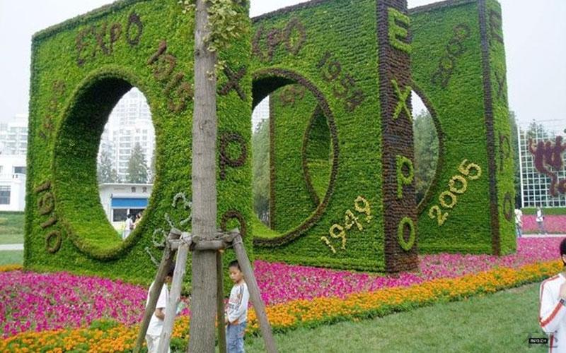 河南公园五色草造型