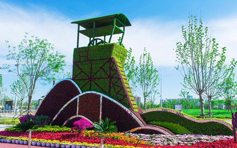 湖北公园五色草造型