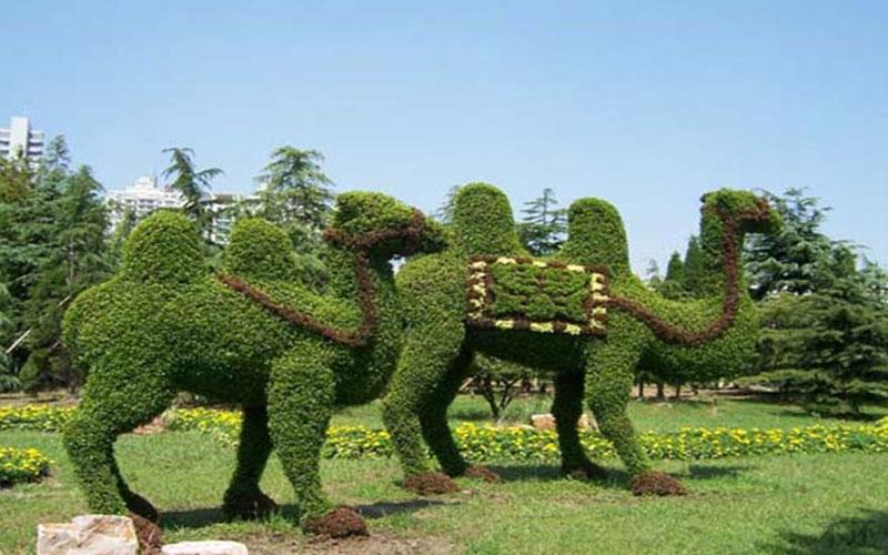 内江市政五色草造型设计