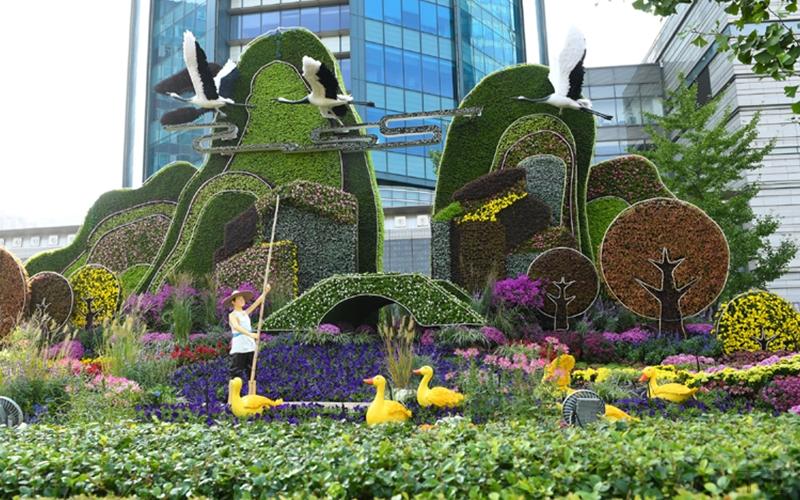 遂宁市政五色草造型设计